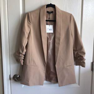 Classy Ruched Sleeve Blazer